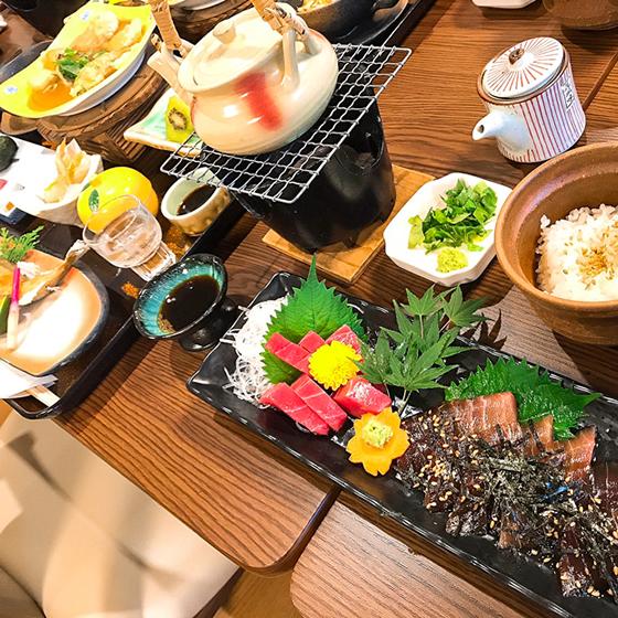 十津川郷土料理と紀州マグロプラン 懐石料理