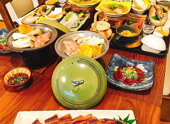 神湯荘温泉ウナギ 懐石料理